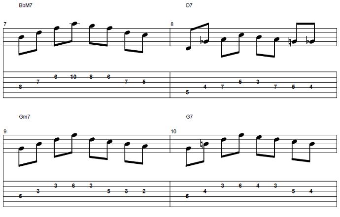【初心者】ジャズギター入門:コードトーン-スケールエクササイズ3