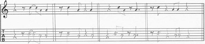 【初心者】ギターアドリブ入門講座 モチーフの発展法 休符を混ぜる