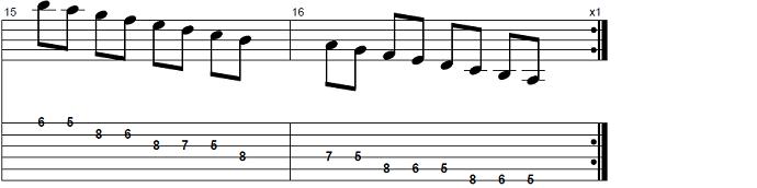 【初心者】ジャズギター入門:Bbメジャースケール6