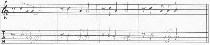 【初心者】ギターアドリブ入門講座 モチーフの発展法 8分休符を入れる