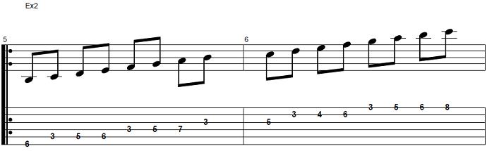 【初心者】ジャズギター入門:Bbメジャースケール2