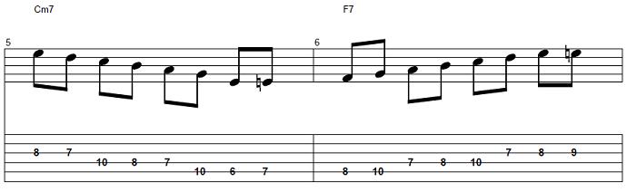【初心者】ジャズギター入門:応用ソロフレーズ2