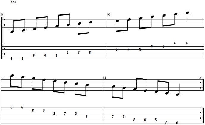 【初心者】ジャズギター入門:Bbメジャースケール4