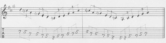 【初心者】ギターアドリブ入門講座 三連符トレーニング1-3-2