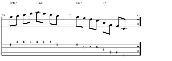 【初心者】ジャズギター入門:応用ソロフレーズ5