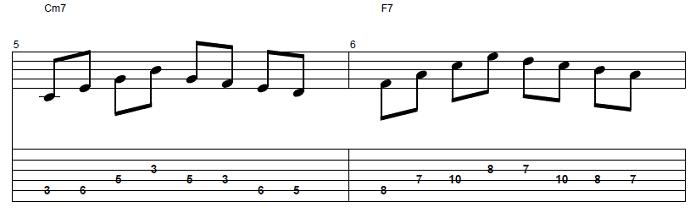 【初心者】ジャズギター入門:コードトーン-スケールエクササイズ2