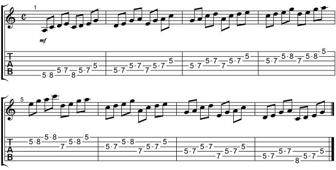【初心者】ギターアドリブ講座 音型トレーニング1-2