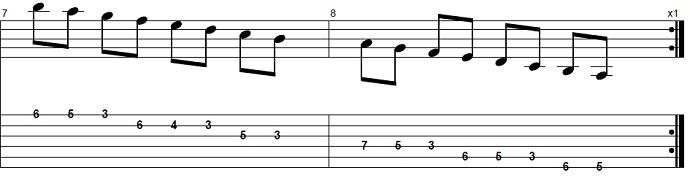 【初心者】ジャズギター入門:Bbメジャースケール3