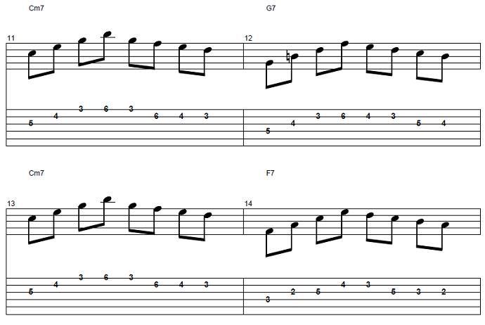 【初心者】ジャズギター入門:コードトーン-スケールエクササイズ4