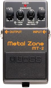 おすすめ歪み系エフェクター BOSS MT-2 メタル・ゾーン