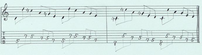 【初心者】ギターアドリブ入門講座 三連符トレーニング(2)4