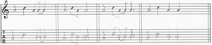 【初心者】ギターアドリブ入門講座 モチーフの発展法 4分音符を入れる