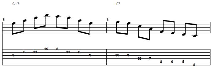 【初心者】ジャズギター入門:応用ソロフレーズ後半2
