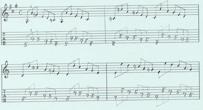 【初心者】ギターアドリブ入門講座 三連符トレーニング(2)1