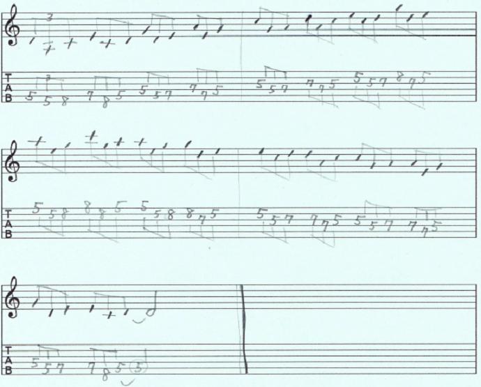 【初心者】ギターアドリブ講座 音型トレーニング4-root-b3 練習