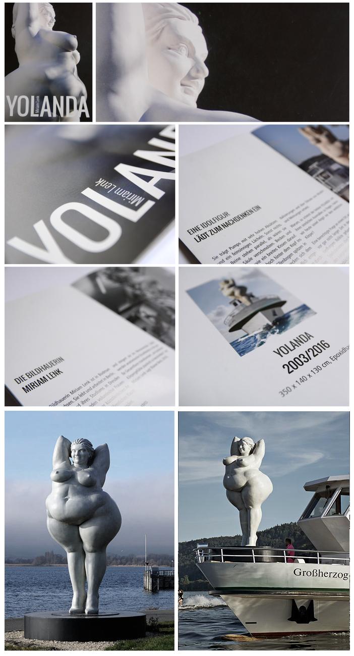 Broschüre zur Aufstellung der YOLANDA in Bodman - Bildhauerin Miriam Lenk