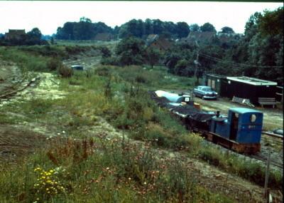 Deicharbeiten Strohausen- auf Höhe des heutigen Neuen Siel. Im Hintergrund Haus Rudolf Bolte. (Juli 1971)