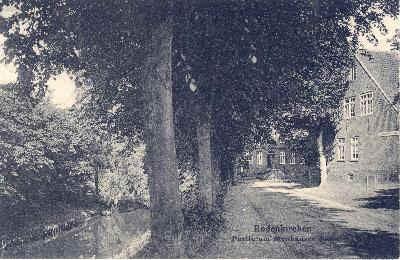 Strohausen, vom Schaart aus in Richtung Stutz, jetzt Michael Sahm,  Gaststätte und Kolonialwarenladen Wilhelm Höpken/Marie Kröpke
