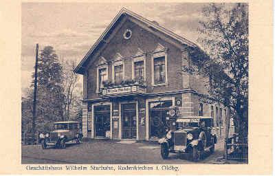 Jetzige Tankstelle von Udo van Norden, früher Wilhelm Sturhahn