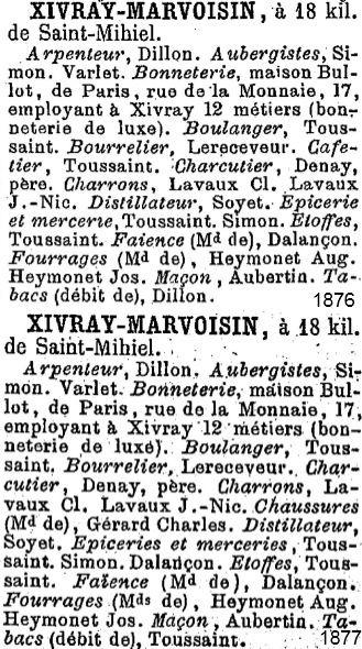 Annuaire Économique de la Meuse 1876 et 1877
