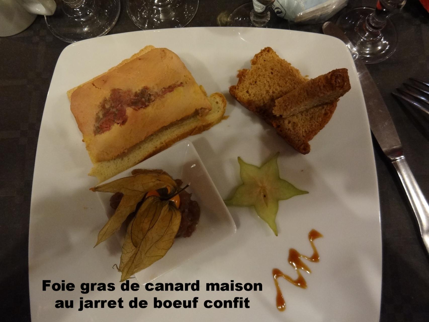 Foie gras au jarret de boeuf confit, pain d'épice