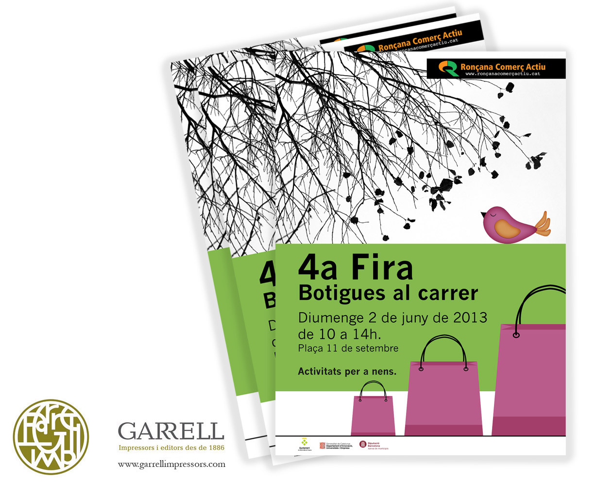 """Cartell """"Botigues al Carrer"""" 4a fira Sta. Eulàlia de Ronçana"""