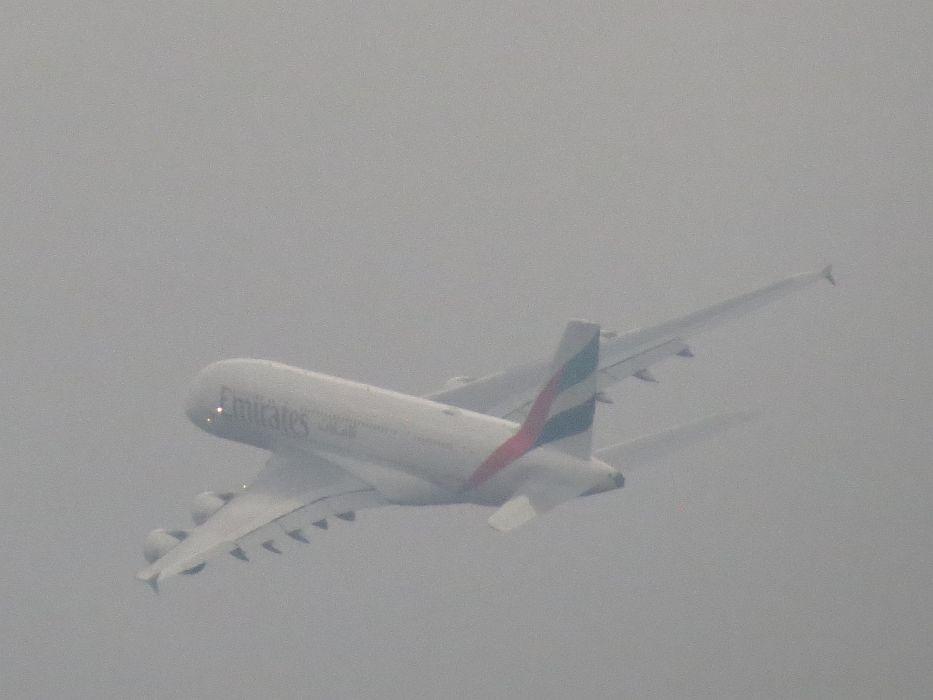 Ein letztes Foto bevor er richtung Dubai in den Wolken verschwindet. Ein erhebendes Erlebnis