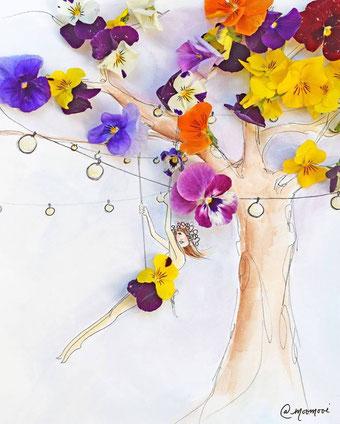"""©MooMooi ™ by Meredith Wing """"Tree swing"""""""