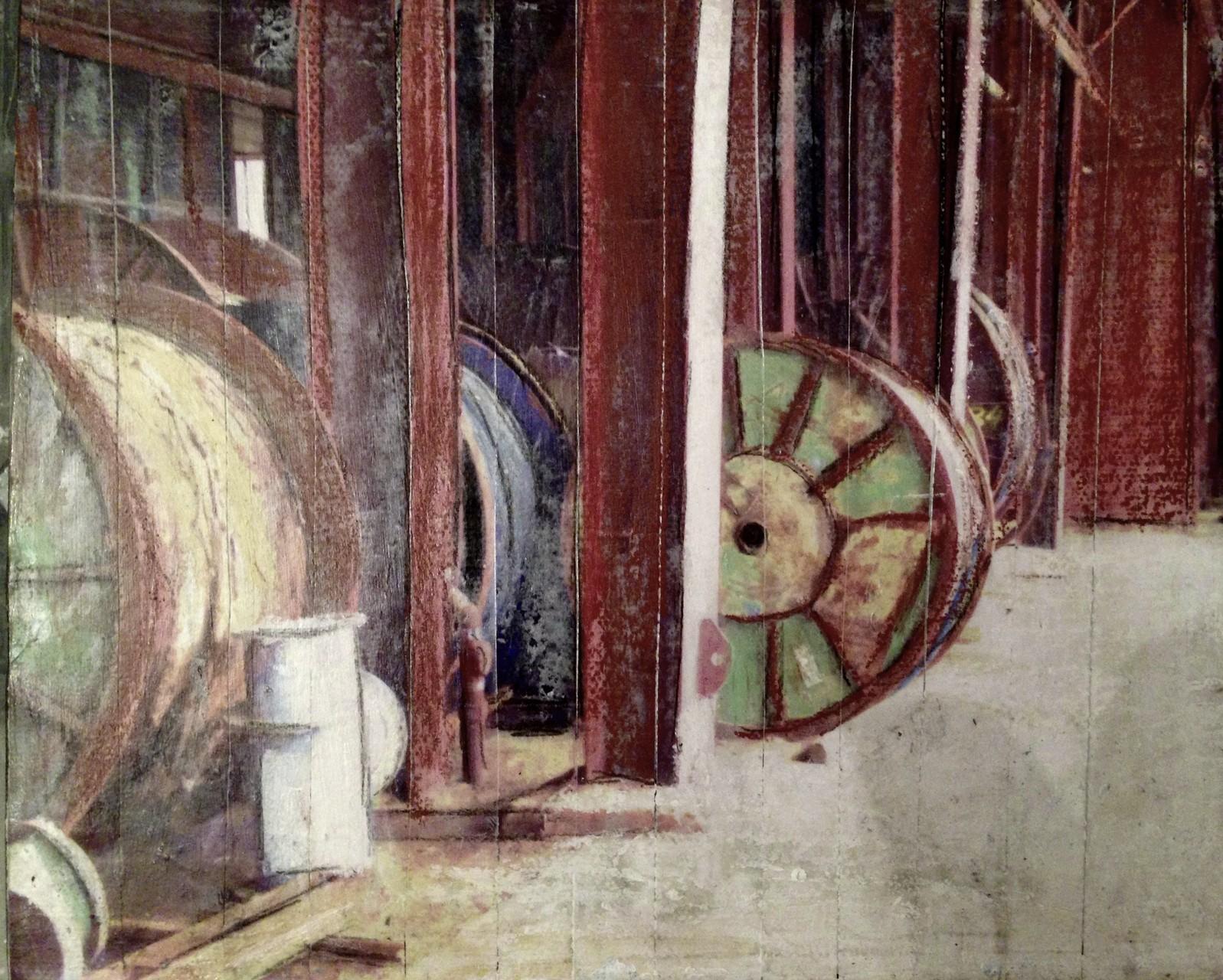 Zeche Zollverein - Spulen (18x24cm)
