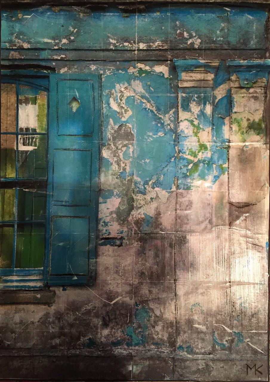 London- Fenster Türkis (50x70 cm)