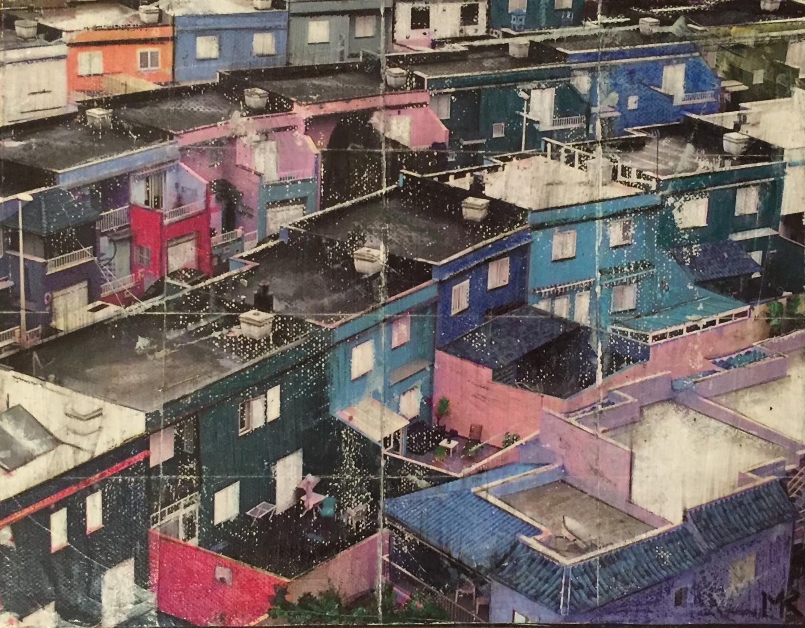 Teneriffa - Häuser in Rosa (24x30cm)