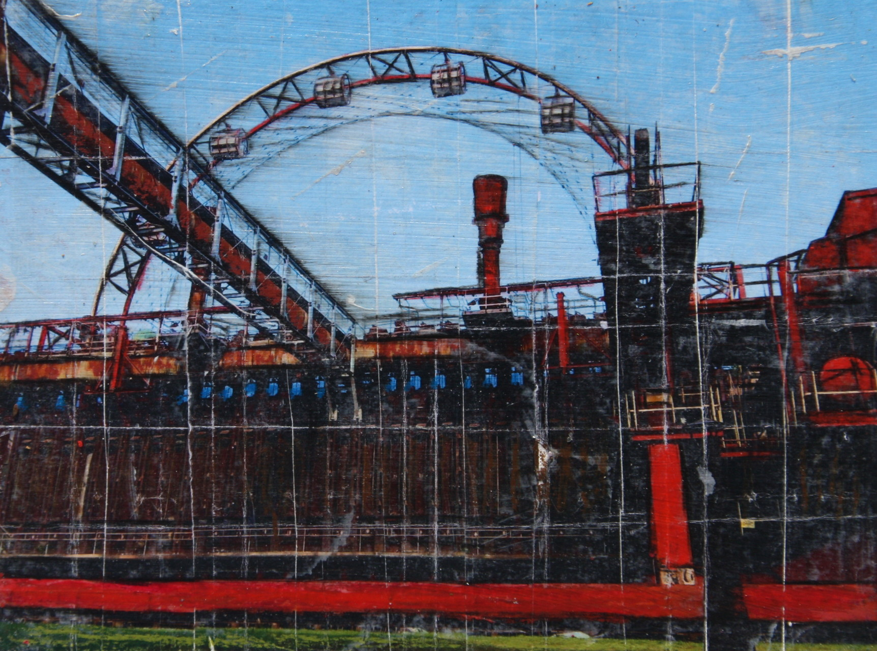 Zeche Zollverein - Rad (18x24m)
