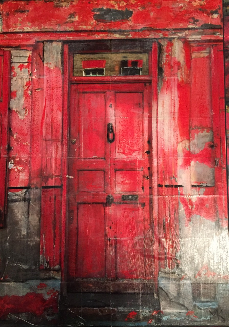 London- Rote Tür (50x70 cm)