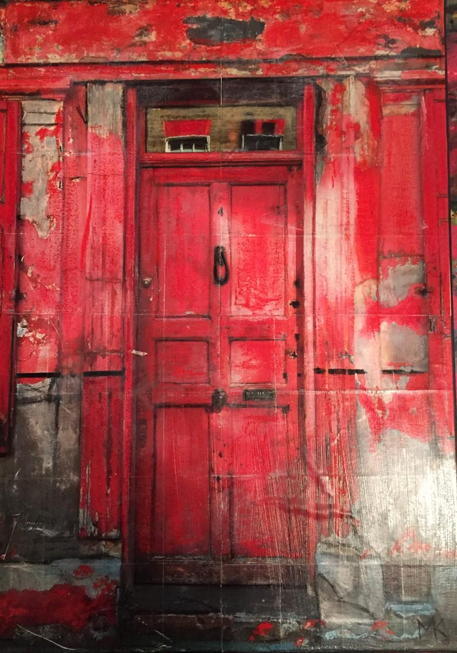 London- Rote Tür (50x70 cm)