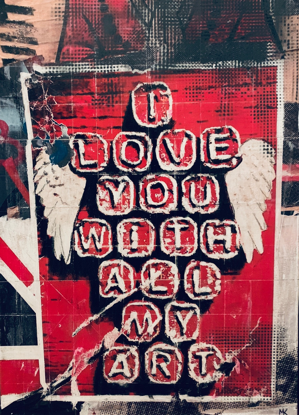 London_I love You with all my Art_50x70cm