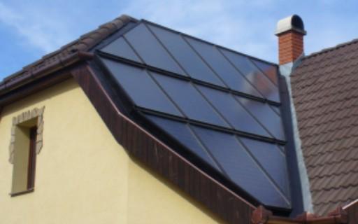 Komplette Dachfläche mit Sonderformat
