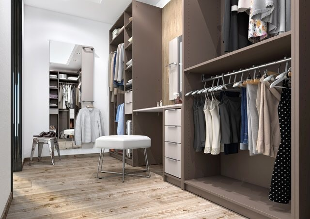 3D Interior Design - Walk in Wardrobe
