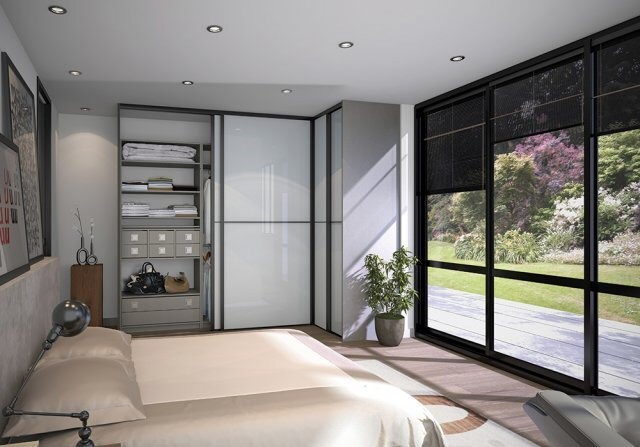 3D Interior Design   Bedroom Large Window