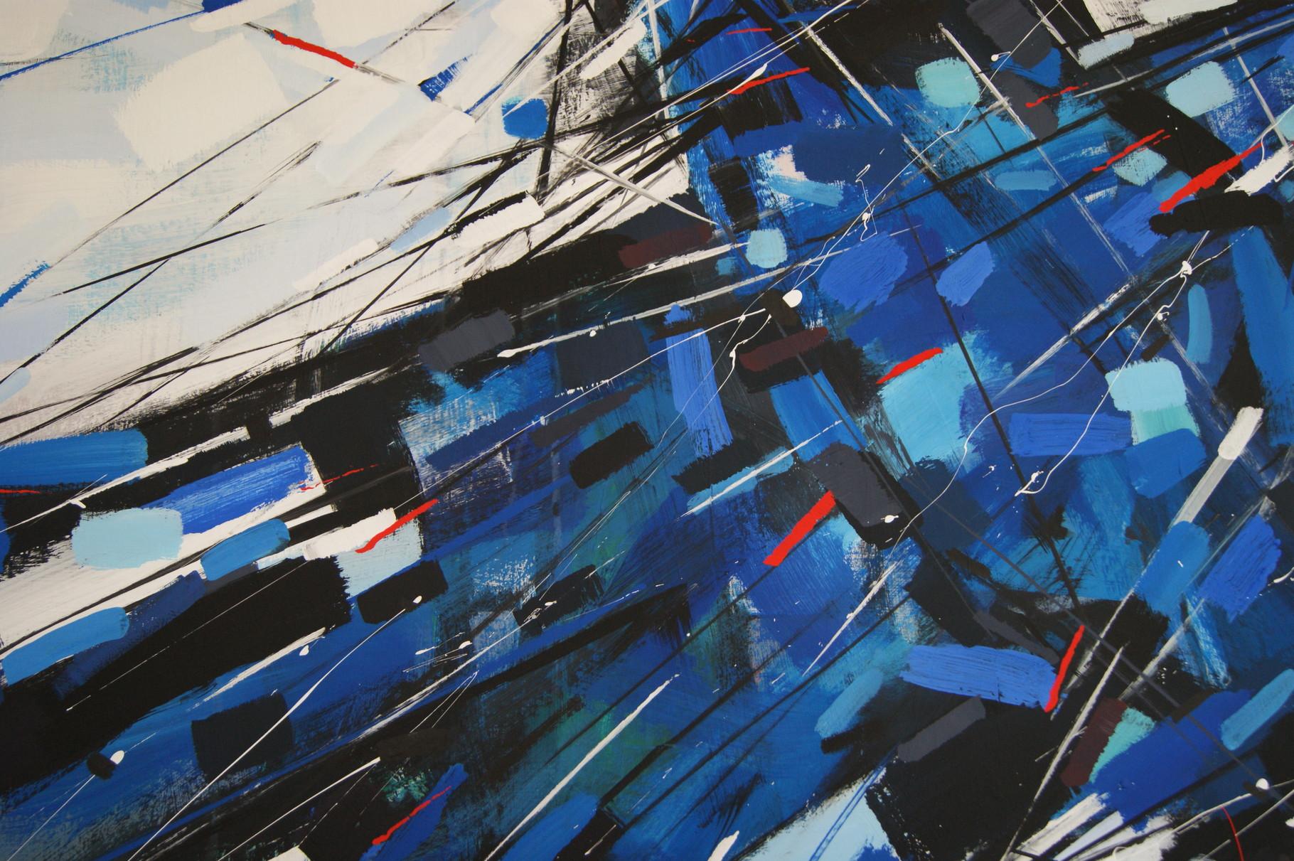 """The Birds"", 100x70, cardboard, mixed media, 2015"