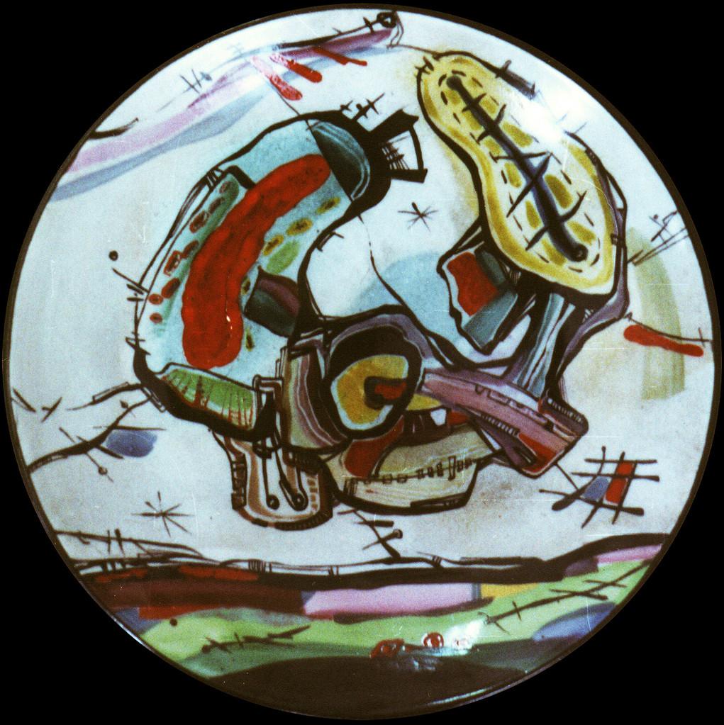 """""""Dreams """", D-30cm, porcelain, overglaze painting, 2014"""