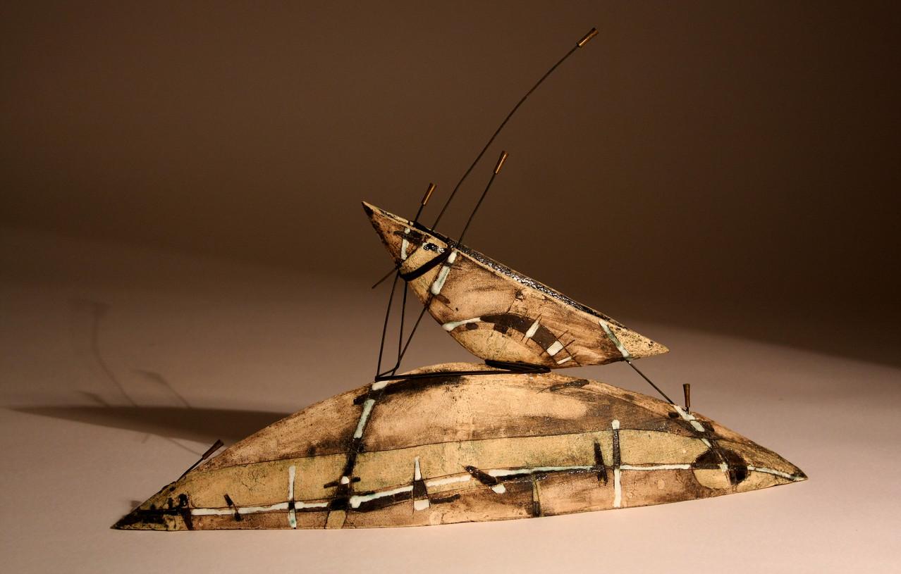 """Contact"", 51х25 cm,  ceramics, glaze,2011"