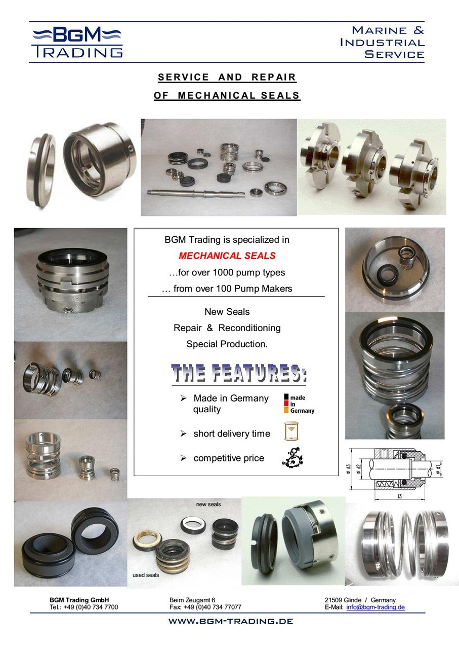 SPARE PARTS - BGM Trading GmbH - Technical Ship Supplier