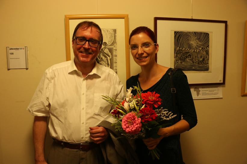 Kreistagsabgeordneter Stefan Ludwig mit Ministerin Diana Golze