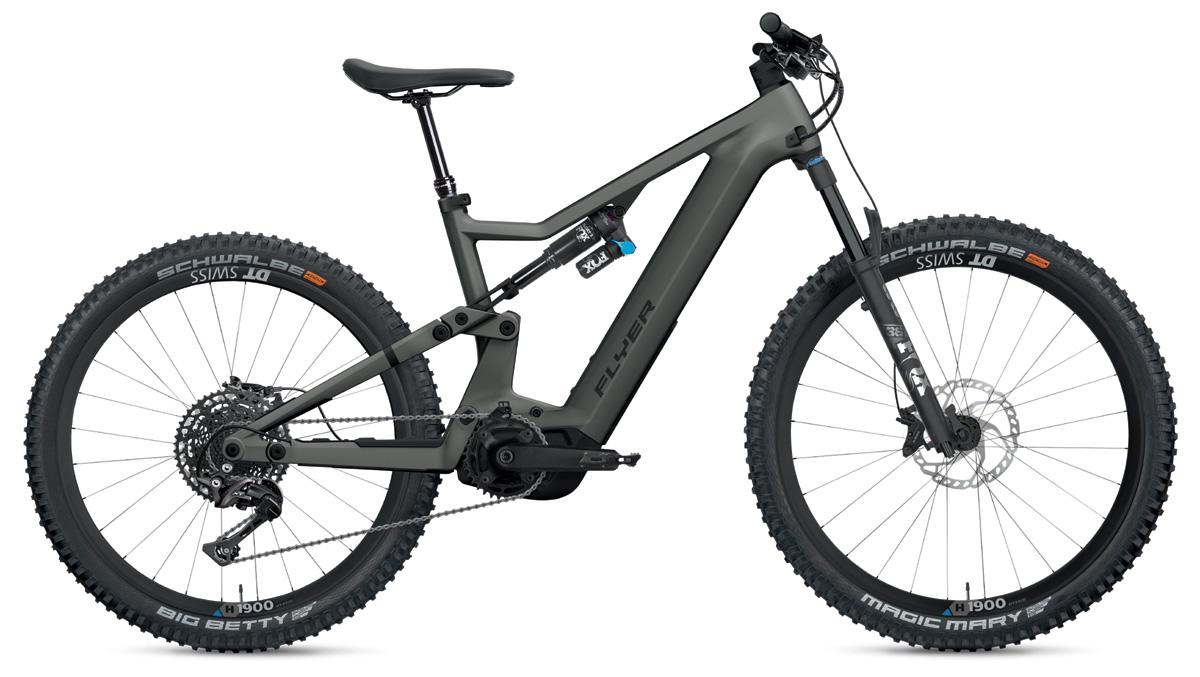 E-Mountainbike FLYER Uproc X black shadin satin