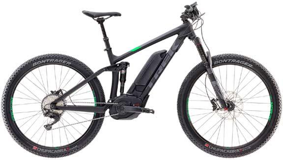 E-Mountainbike vollgefedert TREK Powerfly FS mieten in Wimmis, Nähe Spiez, Thun