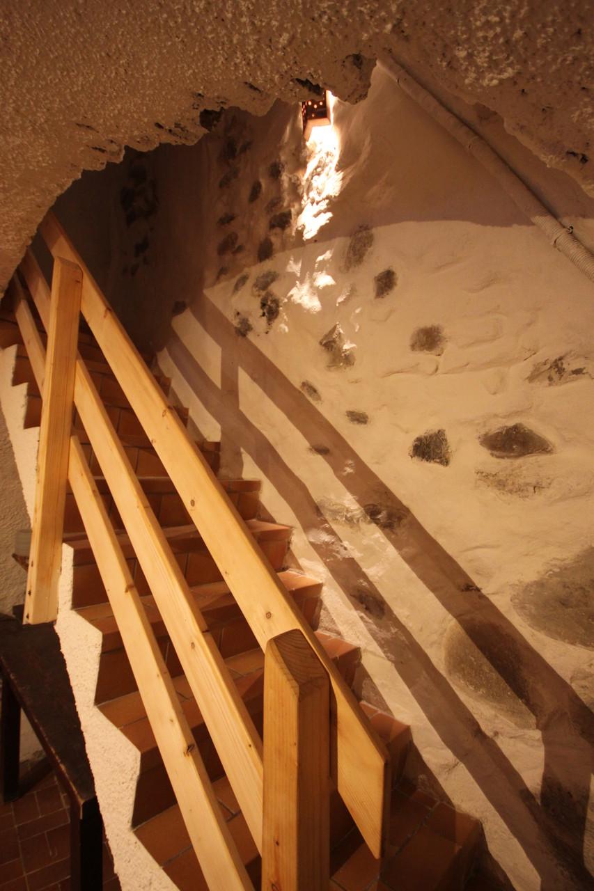 Etage sous voutes, escalier d'accés