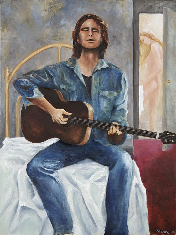 """Crocodile Man""  18""x24"" Oil on canvas"