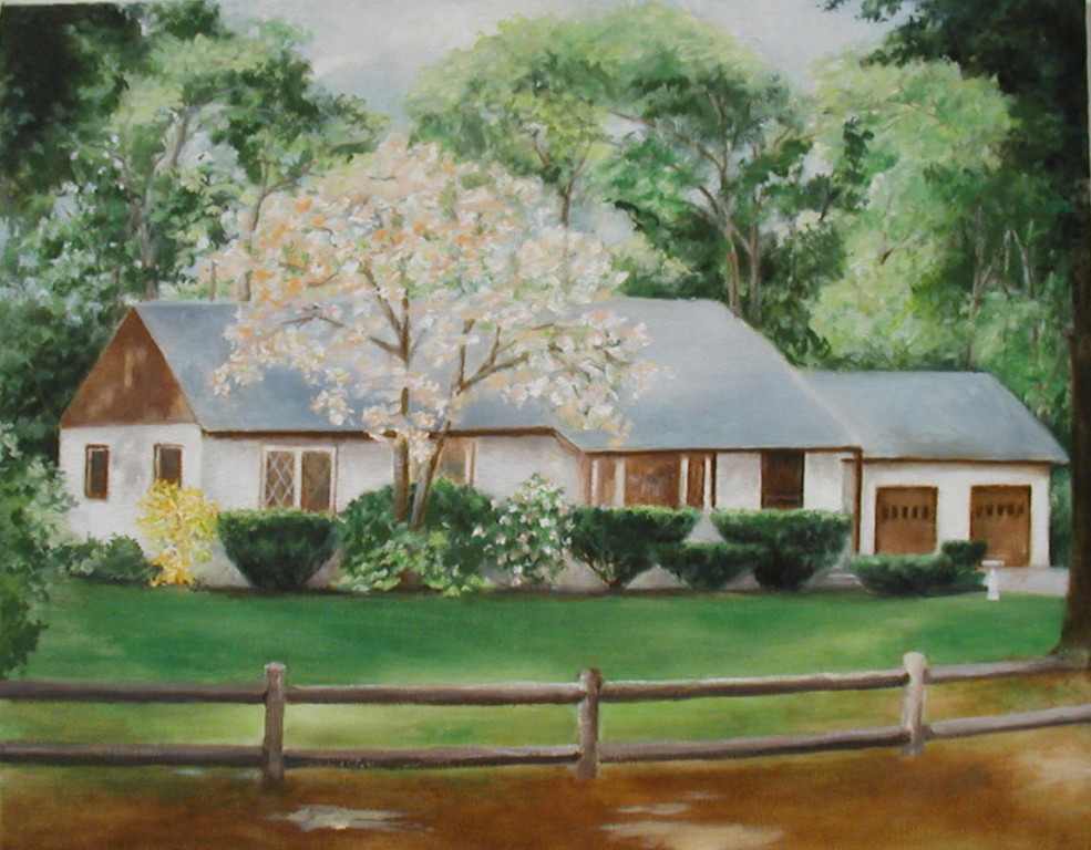 """Whitaker Homestead""     16""x20""     Oil on canvas  (Commissioned)"