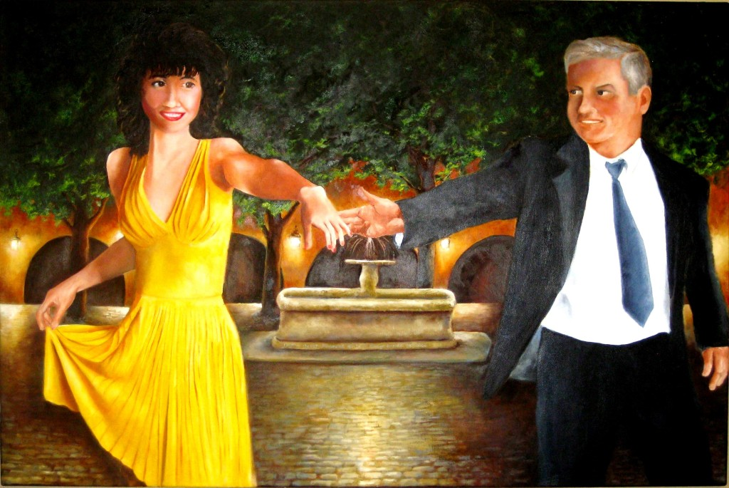 """Steve and Susan""   24""x36""   Oil on canvas (Commission)"
