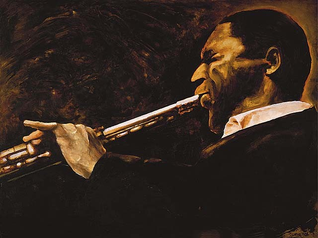 """Coltrane Soliloquy""  16""x20"" Oil on panel   SOLD"